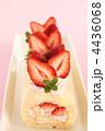 デザート ロールケーキ 生菓子の写真 4436068