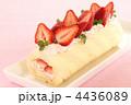 デザート ロールケーキ 生菓子の写真 4436089