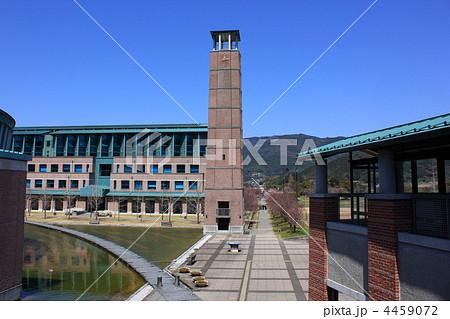高知県立 高知工科大学 時計塔と池 4459072
