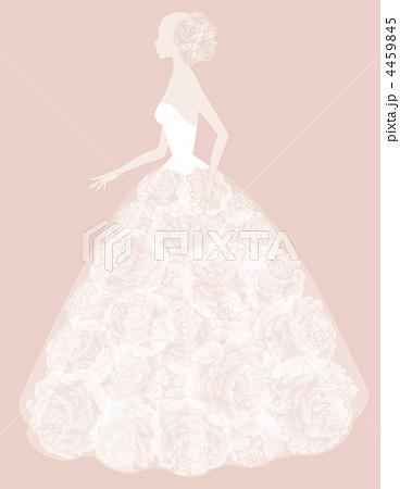 ウエディングドレスのイラスト素材 [4459845] , PIXTA