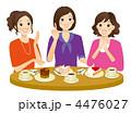 ティータイム 女子会 ケーキのイラスト 4476027