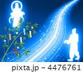 七夕祭り 天の川 織姫のイラスト 4476761