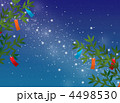天の川 笹飾り 七夕飾りのイラスト 4498530