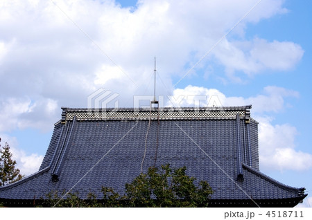寺の屋根と避雷針 寺の屋根 4518711