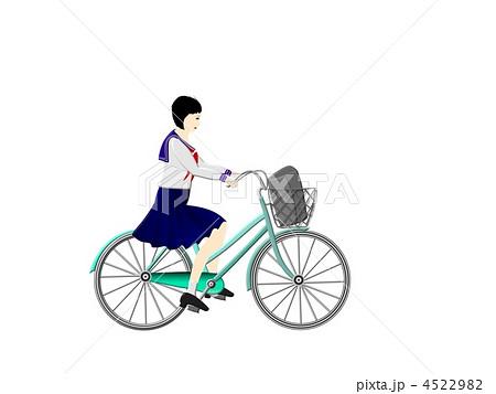 自転車の 自転車 素材 イラスト : ... のイラスト素材 [4522982] - PIXTA