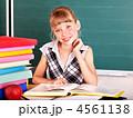 女生徒 教室 教室風景の写真 4561138