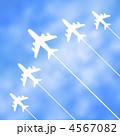 飛行機雲 4567082