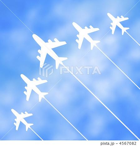 飛行機雲のイラスト素材 4567082 Pixta