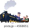 機関車 機関士 SLのイラスト 4568651