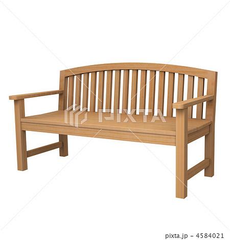 木製ベンチCGイラストのイラスト素材 [4584021] - PIXTA
