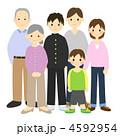祖父母 三世代 大家族のイラスト 4592954