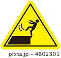 ピクトグラム 足元注意 転落注意のイラスト 4602301