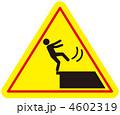 足元注意 転落注意 端部注意のイラスト 4602319