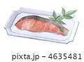 焼き魚 さけ 焼鮭のイラスト 4635481