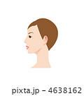 女性の横顔のイラスト 4638162