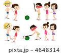 水着の男の子と女の子、スイカ割り 4648314