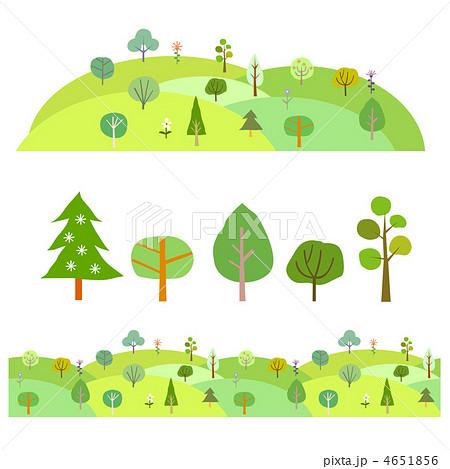 森と動物のイラスト素材 4651856 Pixta