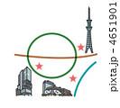 スカイツリー、渋谷ヒカリエ、ダイバーシティお台場の地図 4651901