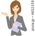 ビジネスウーマン OL 女性のイラスト 4652159