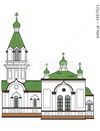 函館ハリストス正教会(カラー) 4667021
