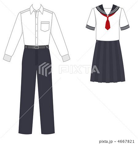 学生服のイラスト素材