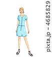 ファッションデザイン画 4685829