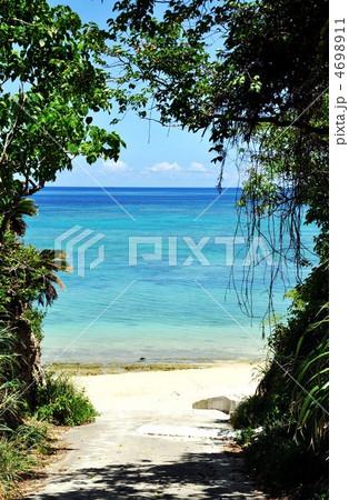 石垣島 北部ビーチ木陰から海 4698911
