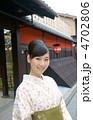着物の若い女性(京都) 4702806
