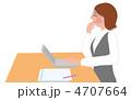 キャリアウーマン オフィスレディ デスクワークのイラスト 4707664