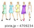 ファッションデザイン画 4709234