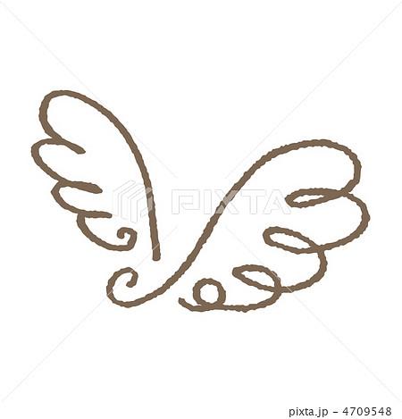 羽のイラスト素材 4709548 Pixta