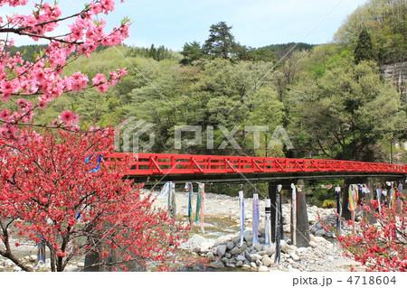 昼神温泉の赤い橋 4718604