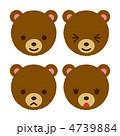 熊 クマ くまのイラスト 4739884