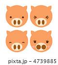 ぶた 動物 ブタのイラスト 4739885