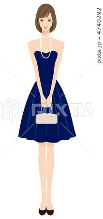 ドレス姿の女性のイラスト素材 4740292 Pixta