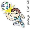 男子 子供 サッカーのイラスト 4741060