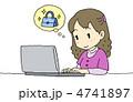 ネットショッピング インターネットショッピング パソコンのイラスト 4741897