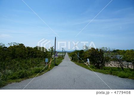 明和町の長くまっすぐな道路の写真素材 [4779408] - PIXTA