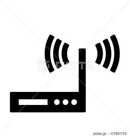 ネットワークルーター 無線機器 のイラスト素材 4780750 Pixta