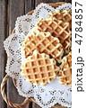 プレーンワッフル 洋菓子 ワッフルの写真 4784857