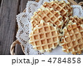 プレーンワッフル 洋菓子 ワッフルの写真 4784858