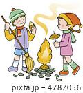 やきいも 焼いも 子どものイラスト 4787056