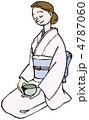 正座 ベクター 女性のイラスト 4787060