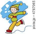 少女 アイススケート ベクターのイラスト 4787065