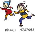アイススケート ベクター 子どものイラスト 4787068