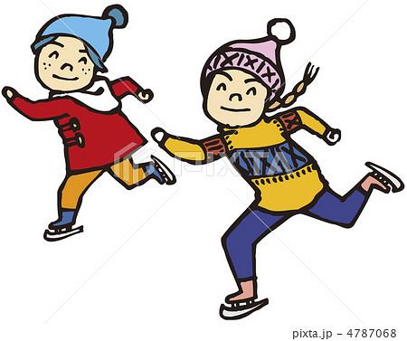 冬 スケートのイラスト素材 4787068 Pixta
