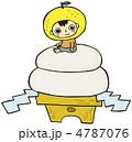 鏡もち ベクター 鏡餅のイラスト 4787076
