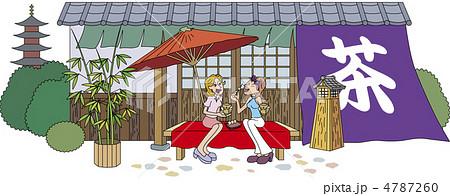 旅行 女の子 茶屋のイラスト素材 4787260 Pixta