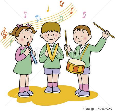 学校 演奏 音楽のイラスト素材 4787525 Pixta