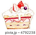 苺のショートケーキ 4792238